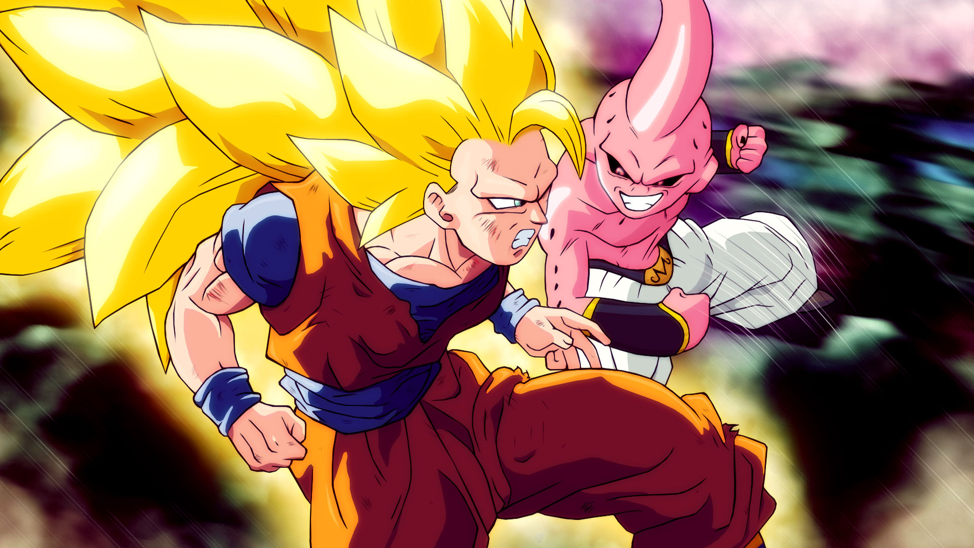 Goku Super Saiyan 3 Vs Kid Buu Ps4wallpapers Com