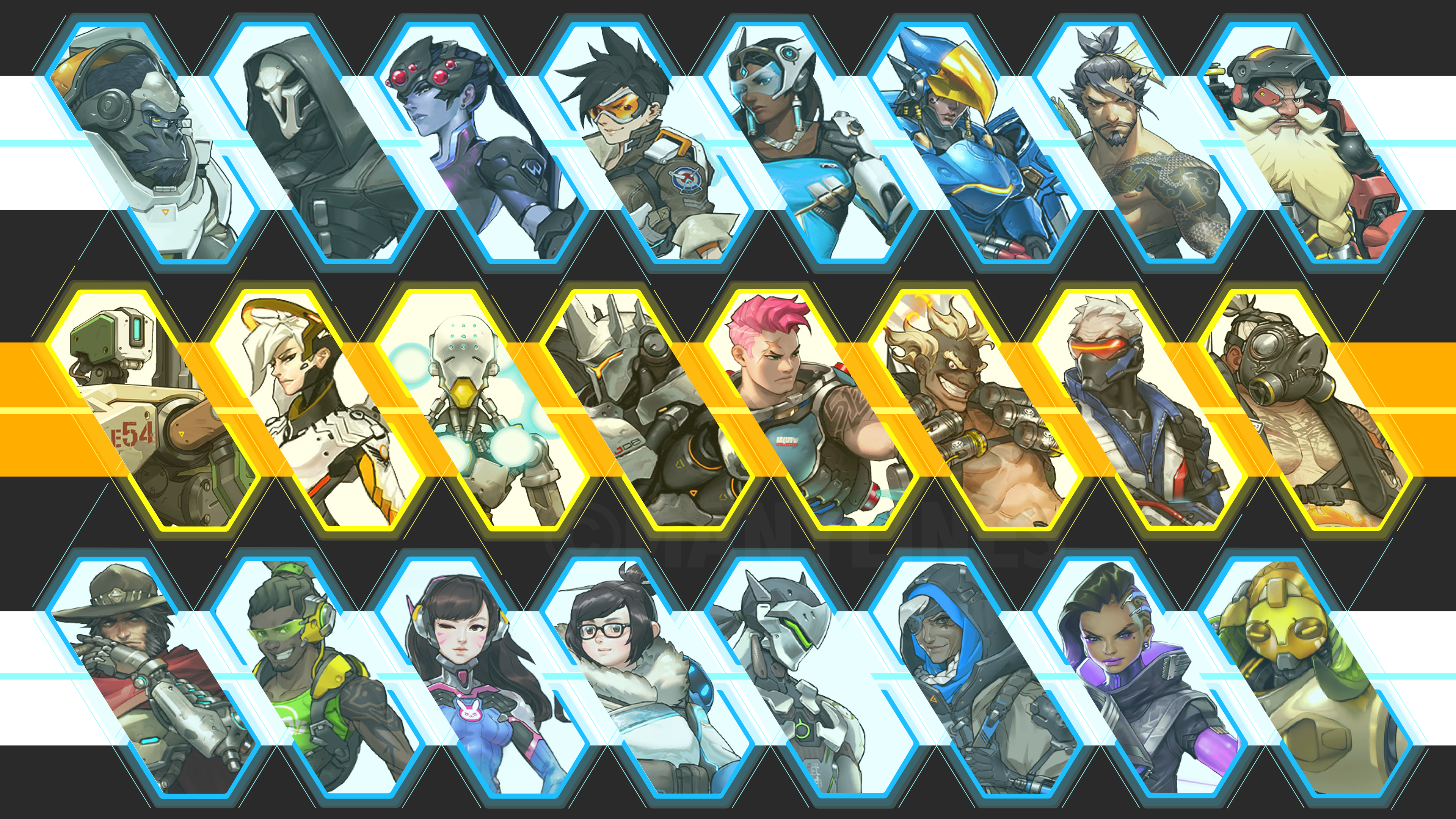 Overwatch Characters Ps4wallpapers Com