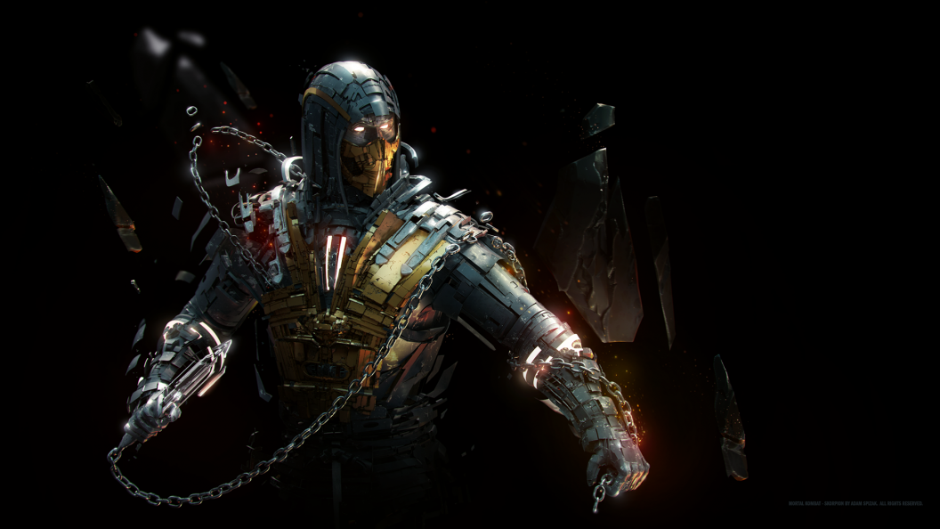 mkx scorpion ps4wallpapers