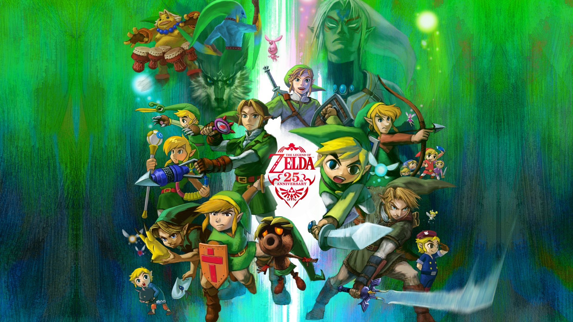 The Legend Of Zelda 25th Anniversary Wallpaper Ps4wallpaperscom