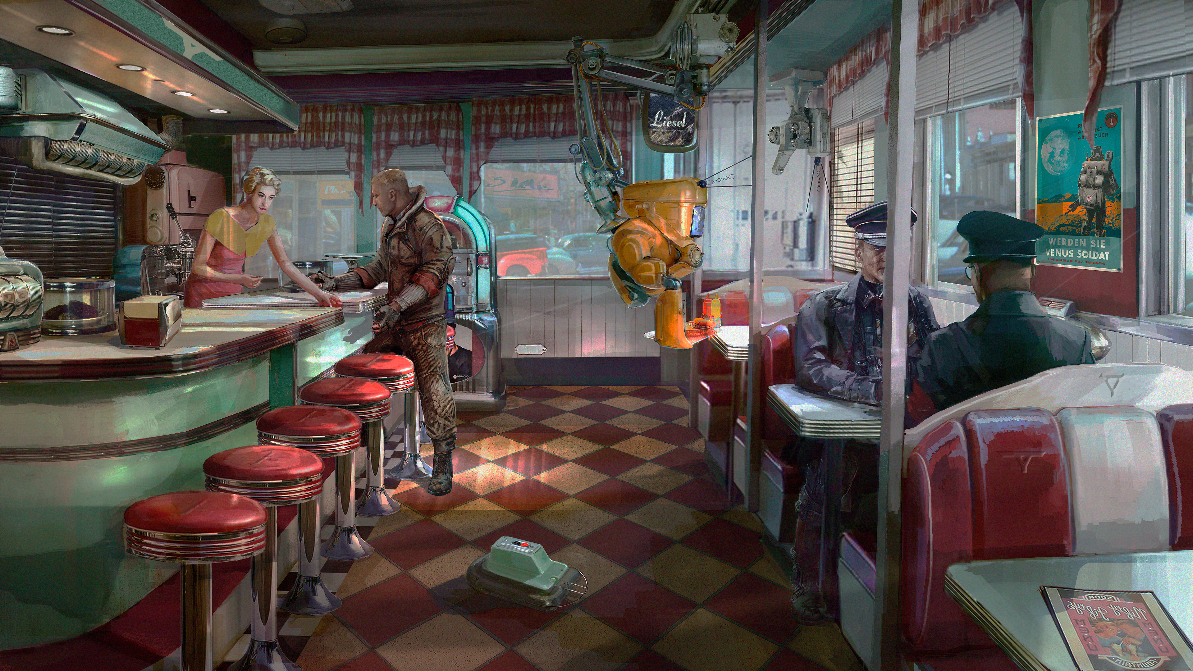 Wolfenstein Ii The New Colossus Diner Ps4wallpapers Com