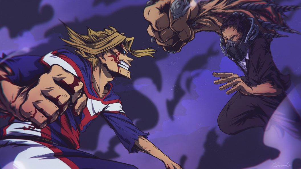 All Might Vs All For One Ps4wallpapers Com