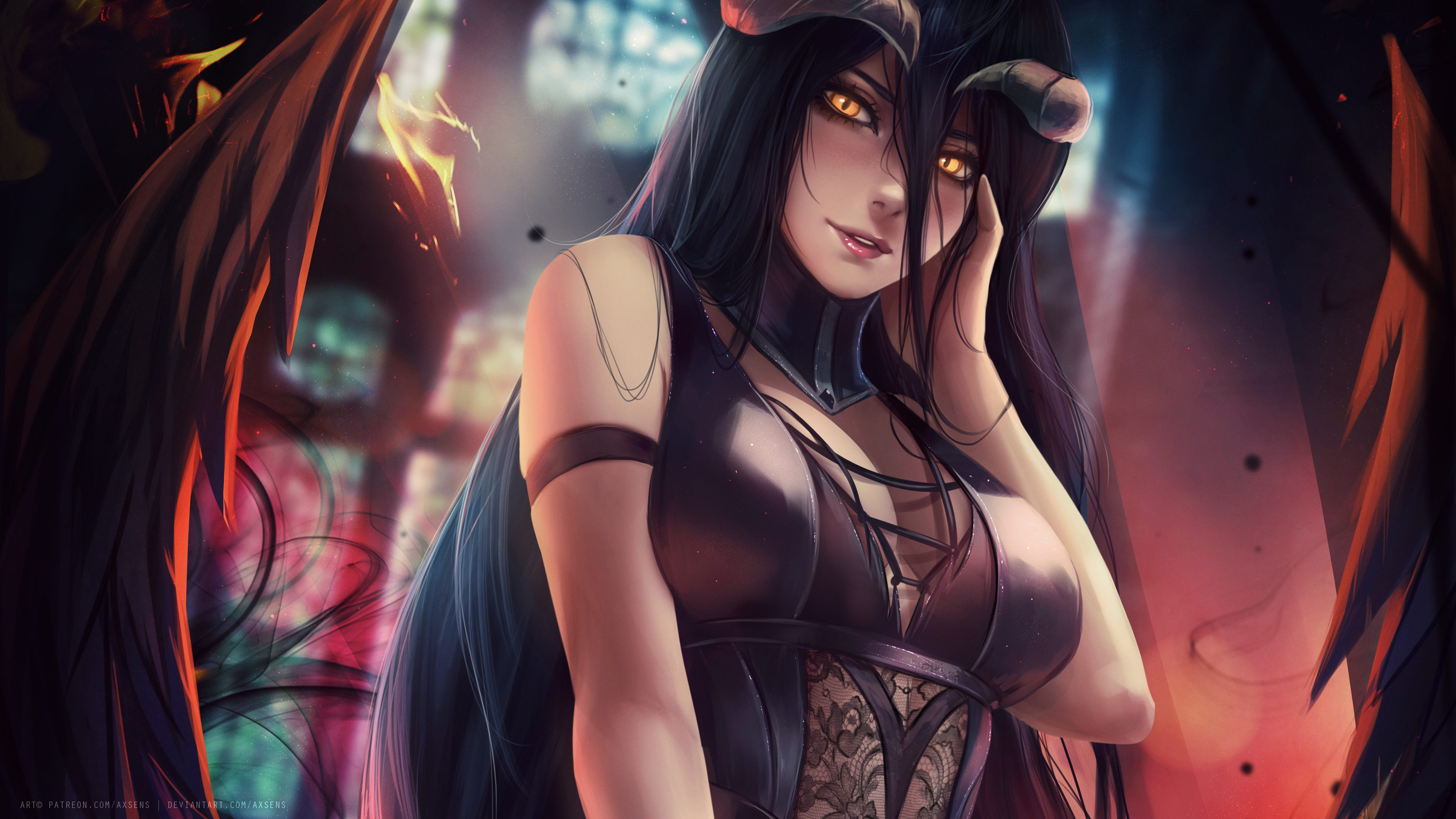 Albedo From Overlord Ps4wallpapers Com